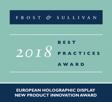 2018 European Holographic Display New Product Innovation Award